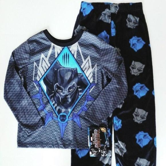 New Black Panther pajamas boys size XS S M L Black Panther 2 piece pajamas